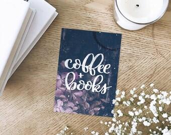 Coffe + Books Art Print
