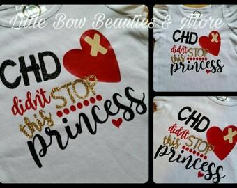 New! CHD didn't STOP this Princess CHD Awareness Top