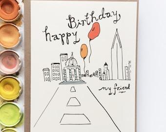Happy Birthday My Friend Card