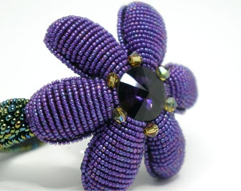 Bracelet flower three-dimensional embroidery beads