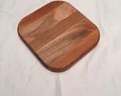 Mini Wooden Cutting Board Solid Wood Maple Cherry and White Oak Trivet Cutting Board 6x6