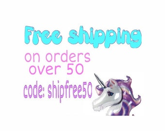 "Please do not add this listing to your cart. Enter coupon code at checkout. ""Shipfree50"""