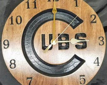 Chicago Cubs Clock