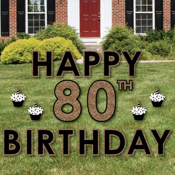 80th Birthday Yard Sign