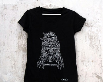 Indian god Shiva Women T-shirt fluorescent