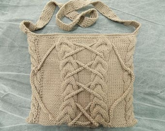Beige Hand Made Bag