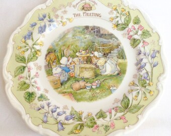 """Brambly Hedge """"The Meeting"""" plate - one of the Surprise Outing plates - Royal Doulton"""