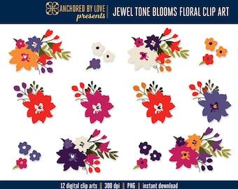 Autumn Clipart, Fall Flowers Clip Art, Purple Flower Clipart, Pink Floral Clipart, Autumn Clip Art Flowers, Orange Flowers Clipart