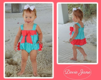 Baby Ruffle Bubble, Toddler Ruffle Bubble, Ruffle Bubble, Baby Ruffle Romper, Baby Girl Bubble, Bubble Romper, Ruffle Romper, Sister Beach