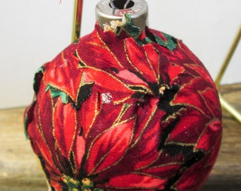 Fabric covered glass ornament EBC0012