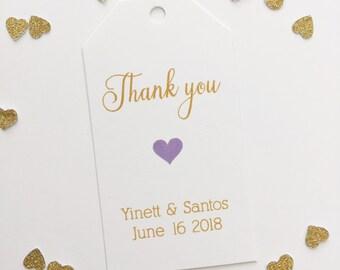 Wedding Thank you Tags, Wedding Favor Tags, Small Wedding Favor Tags (MLT-027)