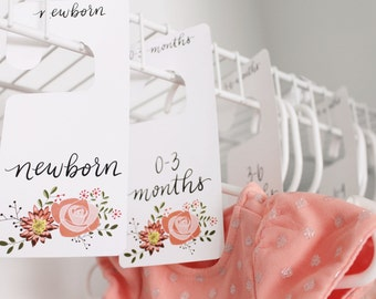 PRINTABLE Closet Dividers - Hand-Lettered Floral