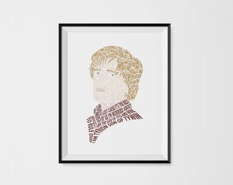 Tyrion Lannister Typography Portrait