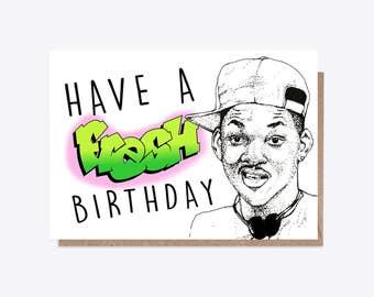 Fresh Prince Of Bel Air | Fresh Birthday | Illustration | Will Smith | 90's Nostalgia