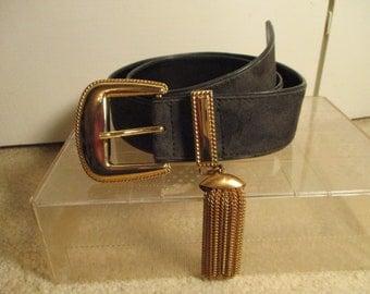 Vintage Escada suede tassel belt