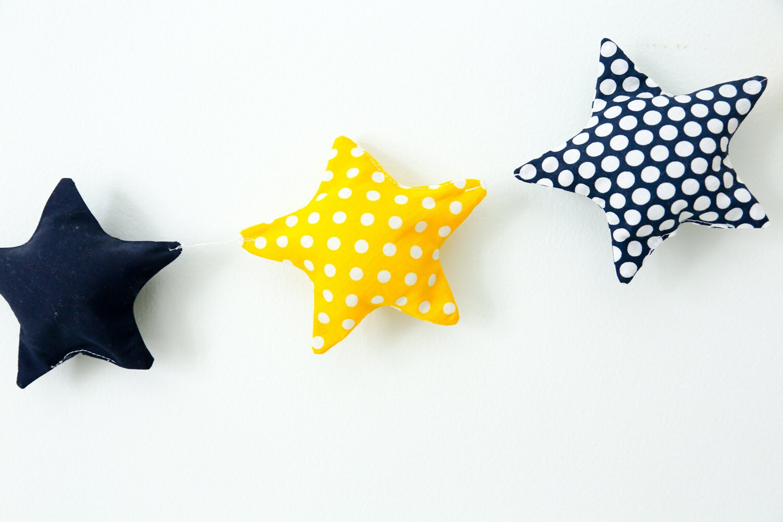 Star garland, nursery garland, nursery decor, wall decor, nursery ...