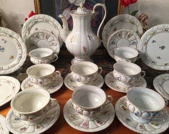 Meissen tea service for eight. 26 pieces.