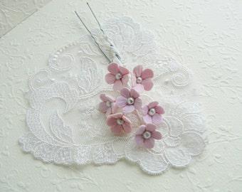 wedding hair pins, pearl hair pins, bridal hair pins, blush flower hair pins, blush pink hair pins, floral hair pins, country wedding