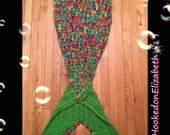 CHILD Crochet mermaid tail|mermaid blanket |mermaid tail