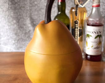 Vintage Midcentury 1960s Pear Fruit-Shaped Novelty Ice Bucket