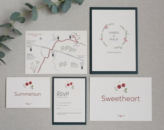 Cherry Blossom Wedding Stationery Suite Sample Pack