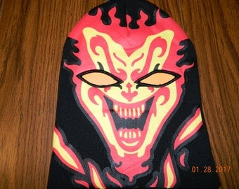 """New with tags- ICP """"The Amazing Jeckel Brothers"""" Full Face Beanie w/cut out eyes"""