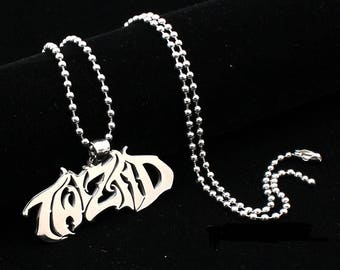 ICP Twiztid Script logo Polished Stainless Steel pendant w/30 inch ball chain