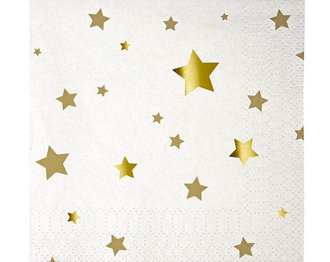 New Yeasrs Eve Gold Star Napkins, Twinkle Twinkle Little Star, New Years Eve Napkins, Chistmas Napkins, Gold Birthday Napkins