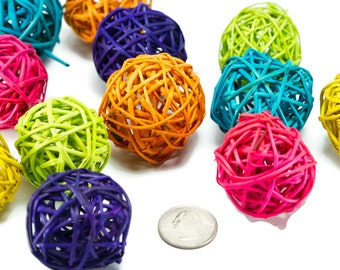 Small Vine Balls - Bird Toy Part Vine Stick Parrot Toy Part Munch Ball