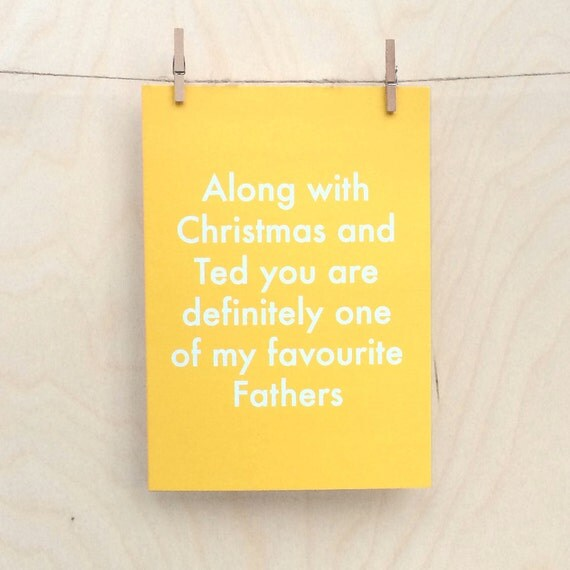 Favourite Father card, funny father birthday card, funny fathers day card.