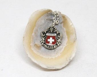 suisse necklace, swiss necklace, european necklace, vintage necklace