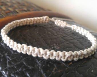Hemp Bracelet, Macramé Adjustable Bracelet Handmade, Hemp Jewelry, Ankle Bracelet, Jewelry, His Hers Hemp Bracelet, Hemp Bracelet, Jewelry.