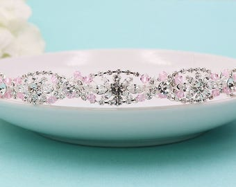 Swarovski Crystal Wedding Headband, Bridal tiara headpiece, wedding headpiece, rhinestone tiara, crystal tiara, silver headband 231502008