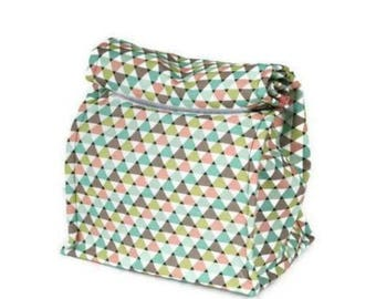 Insulated lunch bag - Triangles
