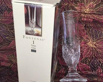Cristal d'Arques Fontenay Crystal Bud Vase, 24% Lead Crystal Vase, Crystal Bud Vase, Pedestal Crystal Vase, 1998, Crystal Vase,Fontenay Vase