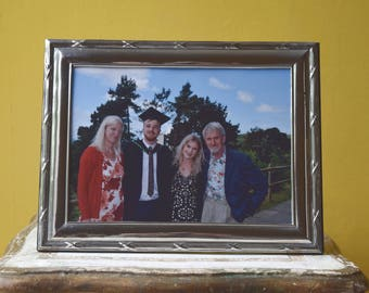 "8"" x 6""  Landscape or Portrait Photo Frame, 8"" x 6"" Pewter Photo Frame , Pewter Picture Frame 8"" x 6"",  - No. 31-P_8x6"