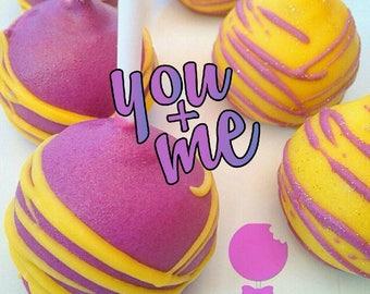 You + Me! X 6 Cake Pops /Cake / Cake Pops / Chocolate