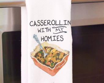 Funny Kitchen Towel - Housewarming Gift - Gift for Wedding Shower - Hostess Gift - Funny Kitchen Decor - Foodie Gift - Gift for Chef