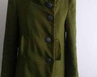 Green Vintage Coat with pockets