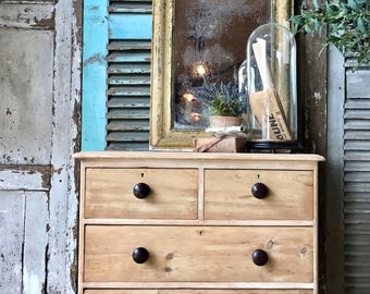 NOW SOLD - Pretty little stripped Victorian chest of drawers