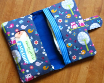 Diaper Clutch / Diaper Bag / Diaper Wipes Bag Owls