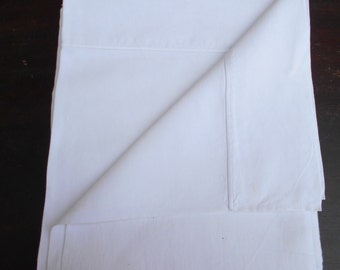 Vintage French Linen Sheet - Heavy