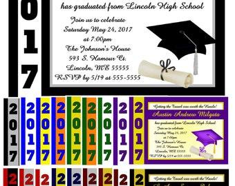 GRADUATION Invitations - INSTANT DOWNLOAD ~ Printable Digital File