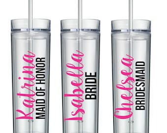 10 Bachelorette Cups, , Bachelorette Party, Bachelorette Tumblers, Personalized Tumblers
