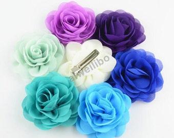 Handmade Fabric Flower Hair Clip, Baby Hair Clip, Girls Hair Clip