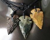 Arrowhead Necklaces- Adjustable jasper Arrowhead Necklaces-Arrowheads-Unisex Necklaces-Handmade Jewelry