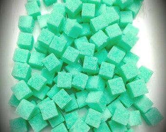 Sea Foam Colored Sugar Cubes  (120+) Baby Shower Petite Sugar Cubes Gourmet Sugar Tea Gifts Bridal Favors