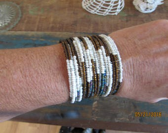 sead bead cuff bracelet
