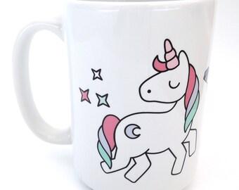 Unicorn Coffee Mug, Colorful Unicorn Art, Ceramic Coffee Mug,Unicorn Lover,Gifts For Her,Rainbow Unicorn,Girly Unicorn,I Believe In Unicorns