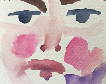 Abstract watercolor portrait